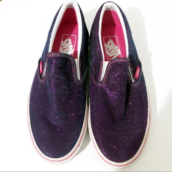 170c36fe8f Vans Color Changing Purple Blue Slip On Sneakers. M 5c2c4f33534ef961de14eebe